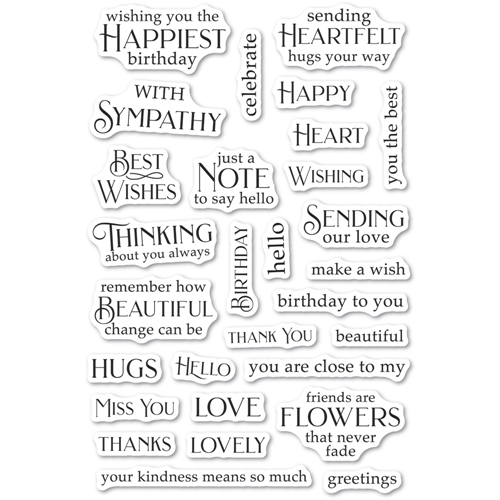Poppy Stamps Clear Stamps GREETING BASICS cl490 Preview Image
