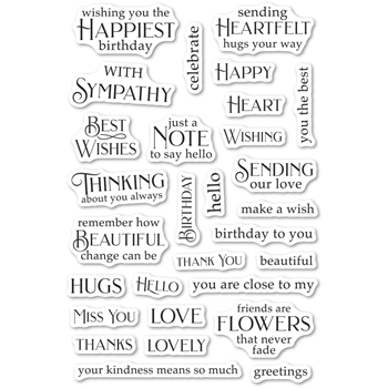 Poppy Stamps Clear Stamps GREETING BASICS cl490