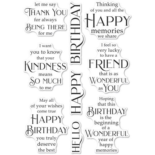 Poppy Stamps Clear Stamps FRIENDSHIP AND KINDNESS cl492 Preview Image