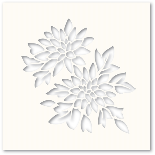 Poppy Stamps CHRYSANTHEMUM Stencil T100 Preview Image