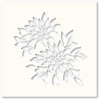 Poppy Stamps CHRYSANTHEMUM Stencil T100