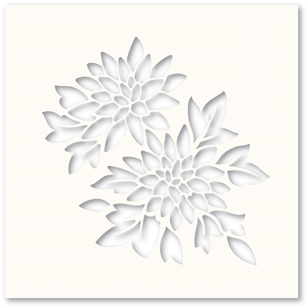 Poppy Stamps CHRYSANTHEMUM Stencil T100 zoom image