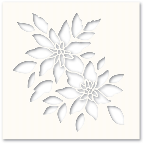Poppy Stamps BRIGHT BLOSSOMS Stencil T102 Preview Image