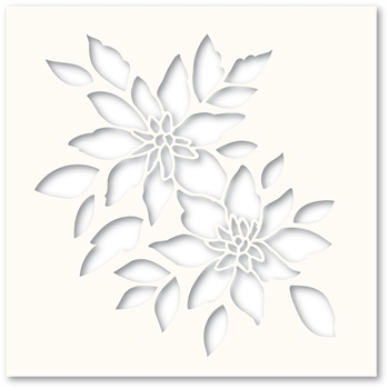 Poppy Stamps BRIGHT BLOSSOMS Stencil T102