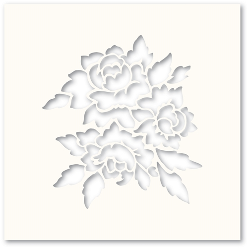 Poppy Stamps ROMANTIC BLOOMS Stencil T101 Preview Image