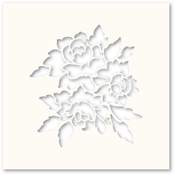 Poppy Stamps ROMANTIC BLOOMS Stencil T101