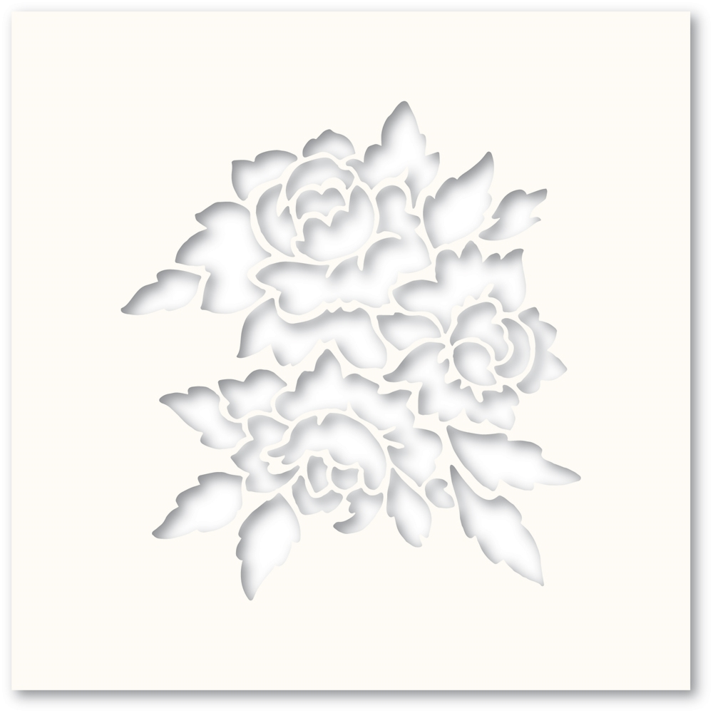 Poppy Stamps ROMANTIC BLOOMS Stencil T101 zoom image
