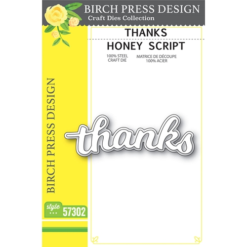 Birch Press Design THANKS HONEY SCRIPT Craft Dies 57302 Preview Image