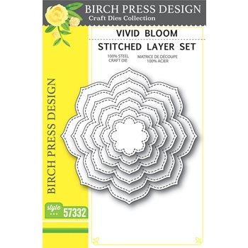 Birch Press Design VIVID BLOOM STITCHED LAYER SET Craft Dies 57332