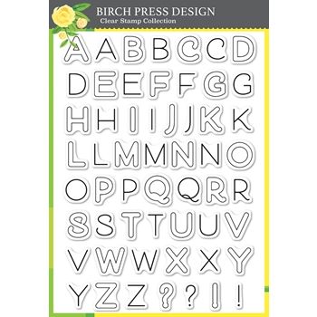 Birch Press Design MOD ALPHABET Clear Stamps cl8139