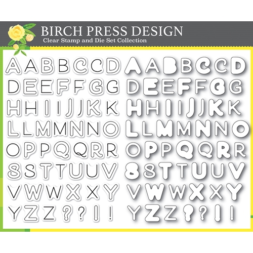 Birch Press Design MOD ALPHABET Clear Stamps and Die Set 8139 Preview Image
