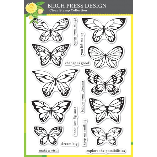 Birch Press Design LOVELY BUTTERFLIES Clear Stamps cl8150 Preview Image