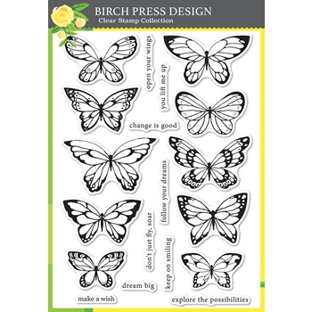 Birch Press Design LOVELY BUTTERFLIES Clear Stamps cl8150