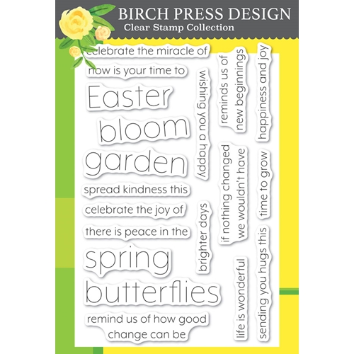 Birch Press Design BLOOMING SPRING Clear Stamps cl8152 Preview Image