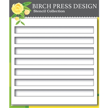Birch Press Design BOLD STRIPES 6x6 Stencil 42029