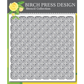 Birch Press Design RING TILE 6x6 Stencil 42030