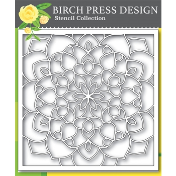 Birch Press Design MIDNIGHT MANDALA 6x6 Stencil 42031