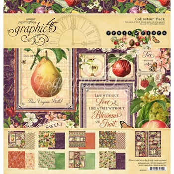 Graphic 45 FRUIT AND FLORA 12 x 12 Paper Pad 4502000