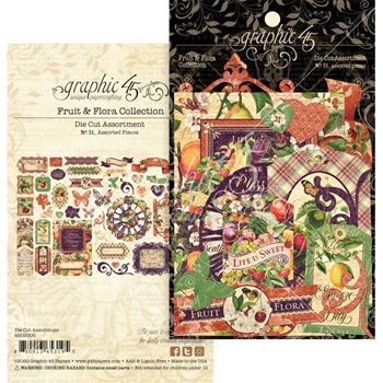 Graphic 45 FRUIT AND FLORA Die Cut Assortment 4502005