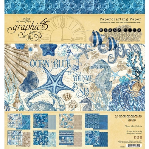 Graphic 45 OCEAN BLUE 8 x 8 Paper Pad 4502015 Preview Image