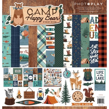 PhotoPlay CAMP HAPPY BEAR 12 x 12 Collection Pack chb2108