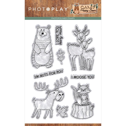 PhotoPlay CAMP HAPPY BEAR Clear Stamps chb2110 Preview Image