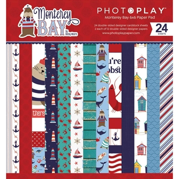 PhotoPlay MONTEREY BAY 6 x 6 Paper Pack mon9741