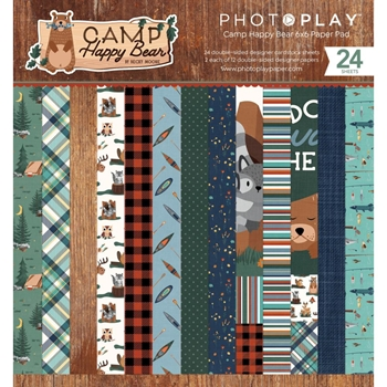 PhotoPlay CAMP HAPPY BEAR 6 x 6 Paper Pack chb2113