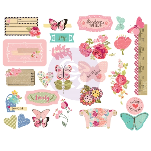 Prima Marketing BUTTERFLY BLISS Chipboard Julie Nutting 913137 Preview Image