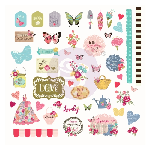 Prima Marketing BUTTERFLY BLISS Ephemera Julie Nutting 913144 Preview Image