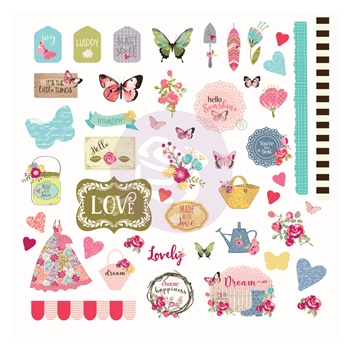Prima Marketing BUTTERFLY BLISS Ephemera Julie Nutting 913144