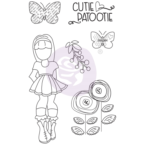 Prima Marketing IVY Cling Stamps Julie Nutting Butterfly Bliss 913045 Preview Image