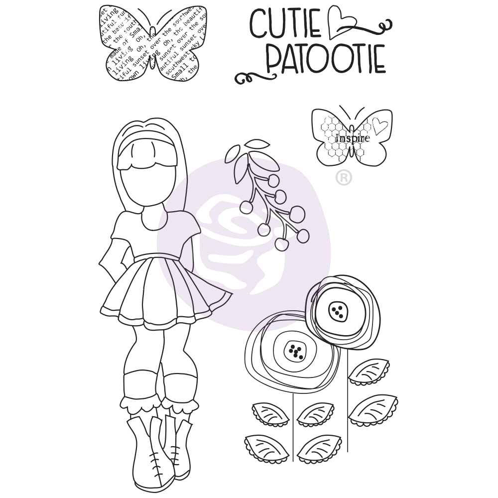 Prima Marketing IVY Cling Stamps Julie Nutting Butterfly Bliss 913045 zoom image