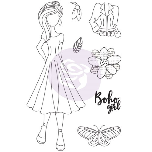 Prima Marketing WILLOW Cling Stamps Julie Nutting Butterfly Bliss 913069 Preview Image