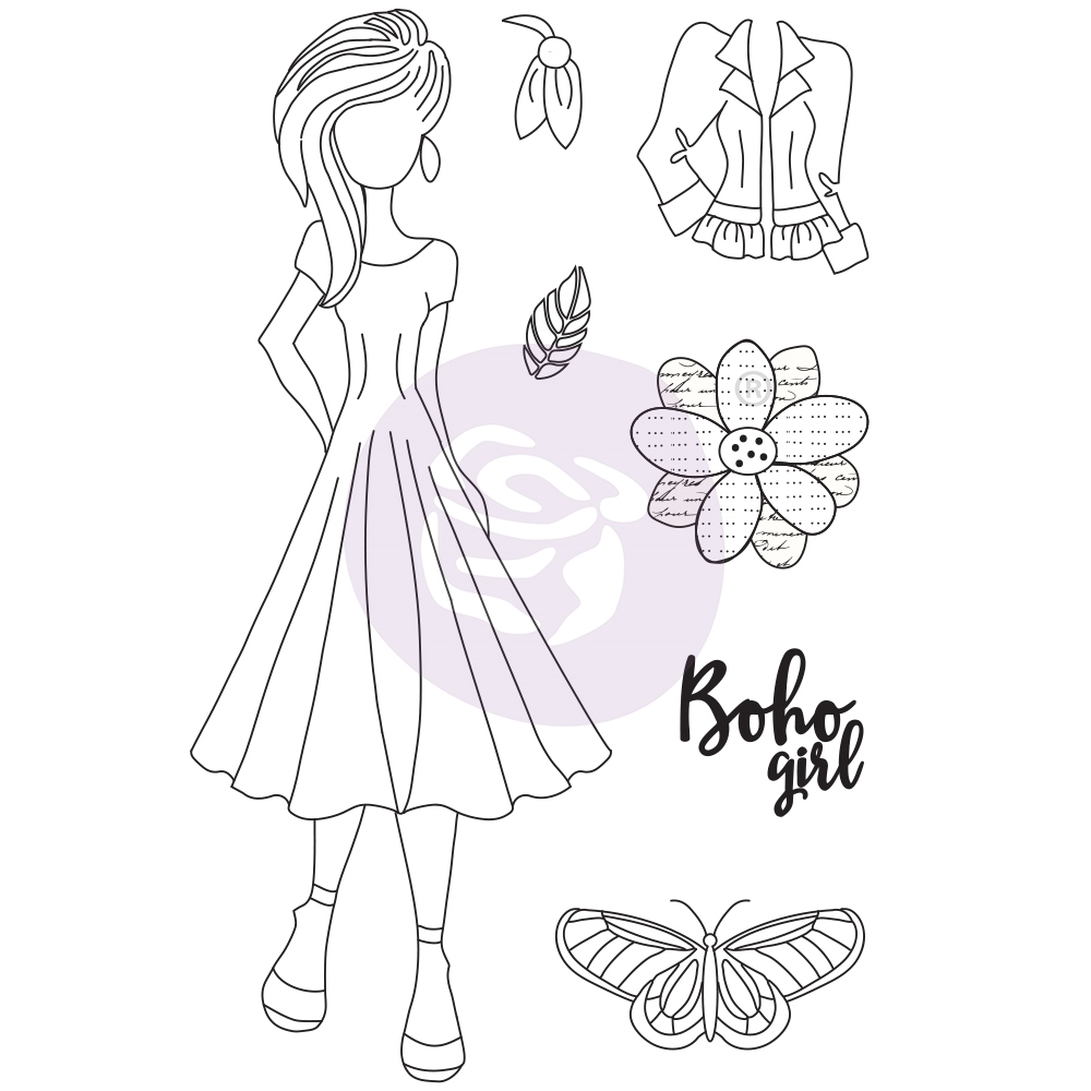 Prima Marketing WILLOW Cling Stamps Julie Nutting Butterfly Bliss 913069 zoom image