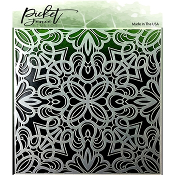 Picket Fence Studios FANCY FLOURISH Stencils sc150