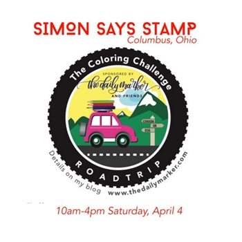 April 4 Kathy Racoosin's The Daily Marker Road Trip at Simon Says Stamp