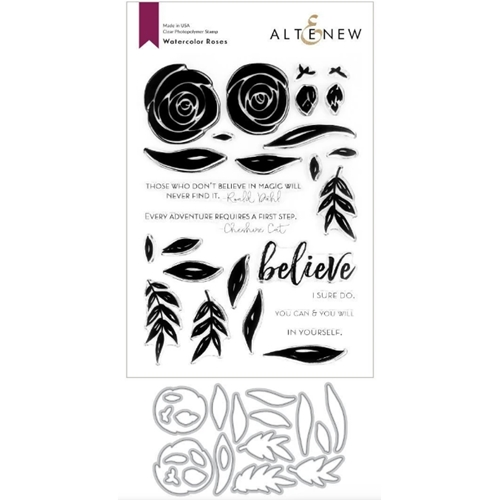 Altenew WATERCOLOR ROSES Clear Stamp and Die BUNDLE ALT3731 Preview Image
