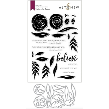 Altenew WATERCOLOR ROSES Clear Stamp and Die BUNDLE ALT3731