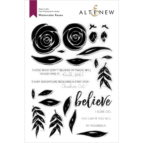 Altenew WATERCOLOR ROSES Clear Stamps ALT3729 Preview Image