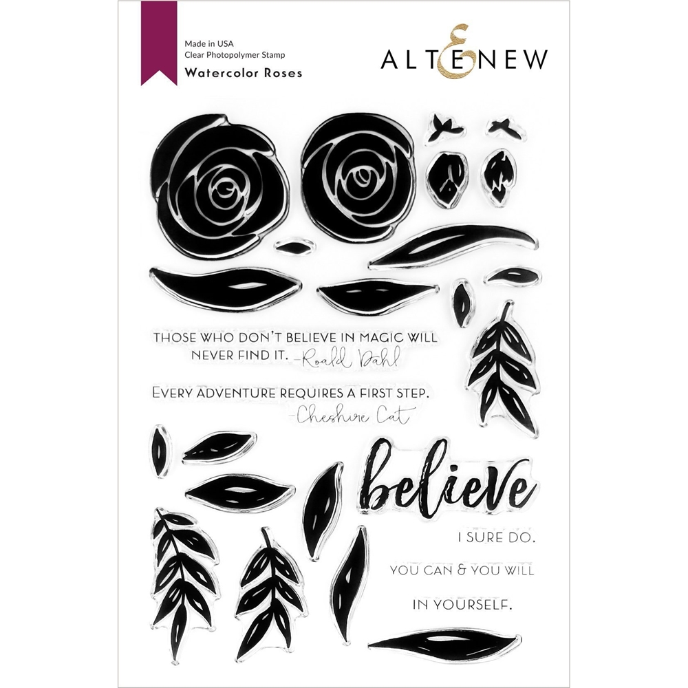 Altenew WATERCOLOR ROSES Clear Stamps ALT3729 zoom image