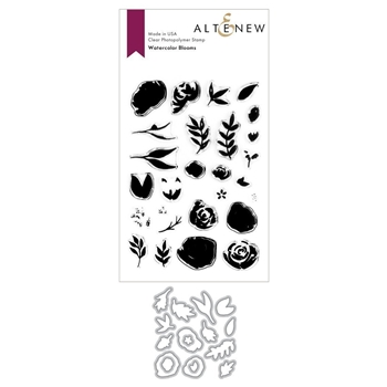 Altenew WATERCOLOR BLOOMS Clear Stamp and Die BUNDLE ALT3728