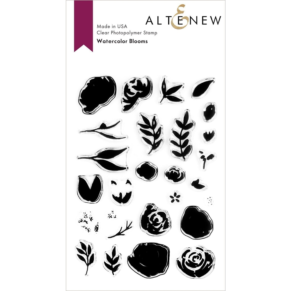 Altenew WATERCOLOR BLOOMS Clear Stamps ALT3726 zoom image