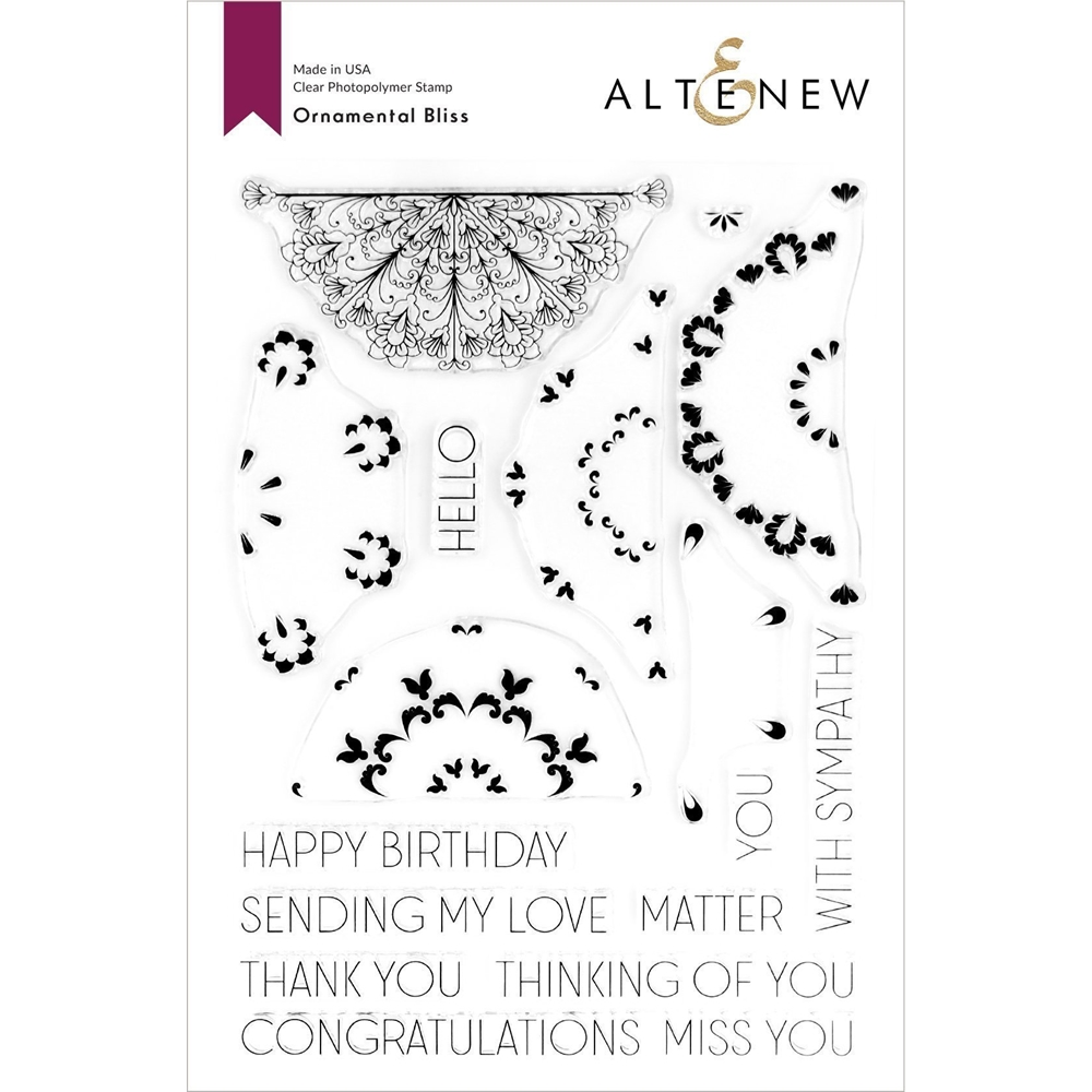 Altenew ORNAMENTAL BLISS Clear Stamps ALT3722 zoom image