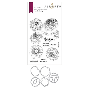 Altenew NEW BEGINNINGS Clear Stamp and Die BUNDLE ALT3720*
