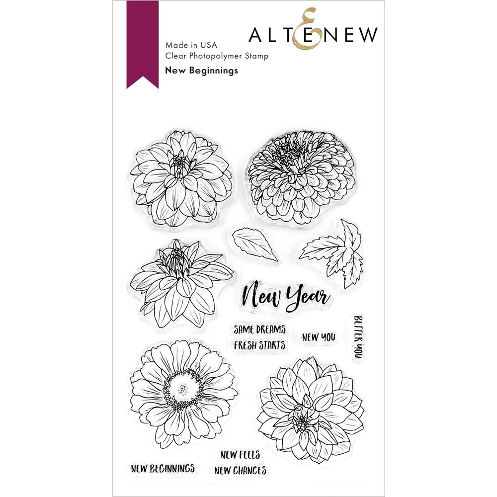 Altenew NEW BEGINNINGS Clear Stamps ALT3719S zoom image