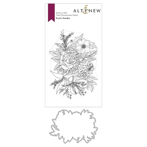 Altenew EXOTIC GARDEN Clear Stamp and Die BUNDLE ALT3718 Preview Image