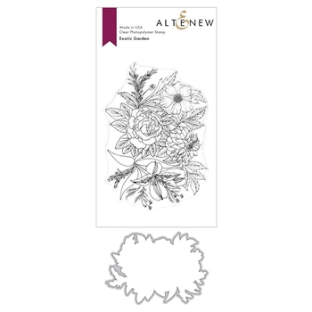 Altenew EXOTIC GARDEN Clear Stamp and Die BUNDLE ALT3718