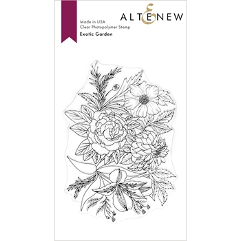 Altenew EXOTIC GARDEN Clear Stamps ALT3716