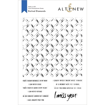 Altenew DOTTED DIAMONDS Clear Stamps ALT3715